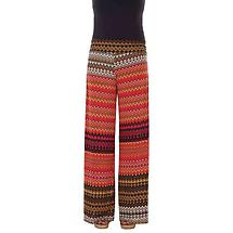 Printed Palazzo Pants Belize Red Zigzag