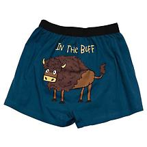 In the Buff Funny Boxers with Buffalo in Cotton with Elastic Waist