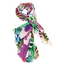 Multi Colored Animal Print Scarves Elephant