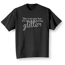 Strands of glitter T-shirt