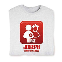 Personalized Nurse Calls The Shots Long Sleeve T-Shirt