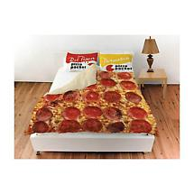 Pepperoni Pizza Queen Duvet Bedding Cover