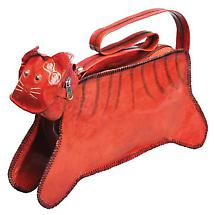 Cat Leather Purse