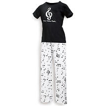 Here Comes Treble Music Cotton Womens T-Shirt and Matching Cotton Lounge Pants