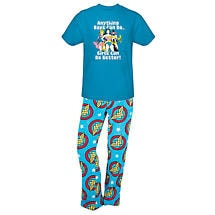 DC Comics Womens Sleep Set Wonder Woman Plush Lounge Pants and T-Shirt