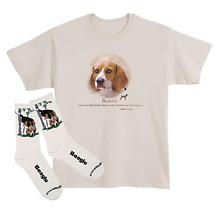 Beagle Dog Breed Cotton T-Shirt and Mens Cotton Blend Socks Sets