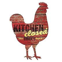 Kitchen's Closed Wall Plaque
