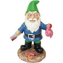 "Butcher Garden Gnome 9-1/2"" Tall"