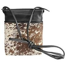 Cowhide Hair Cross-Body Bag- Black