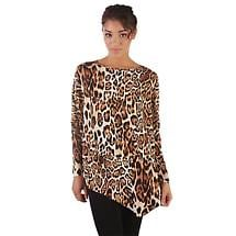 Asymmetrical Cheetah Print Tunic