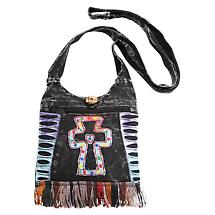Cross Fringe Cross Body Bag