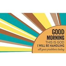 Good Morning Wall Plaque