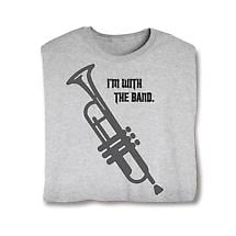 I'm With The Band Ladies T-Shirt- Trumpet