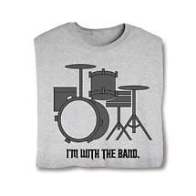I'm With The Band Ladies T-Shirt- Drums