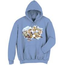 Fox Family Animal Hooded Sweatshirt
