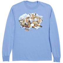 Fox Family Animal Long Sleeve T-Shirt