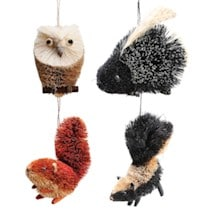 Bottle Brush Woodland Ornament Set