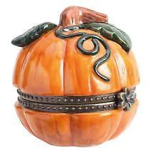 Harvest & Haunted Hinged Box- Harvest Pumpkin