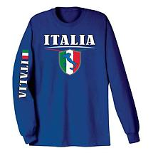 International Long Sleeve T-Shirt- Italia (Italy)