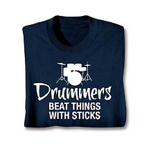 Music Instruction Long Sleeve T-Shirt- Drummers
