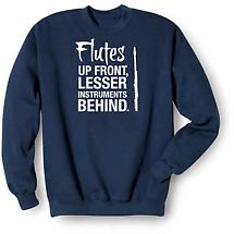 Music Instruction Sweatshirt- Flutes