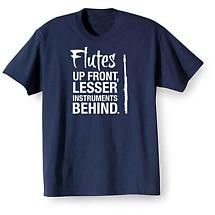 Music Instruction T-Shirt- Flutes