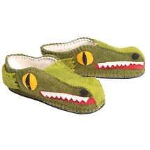 Handmade Animal Slippers- Alligator