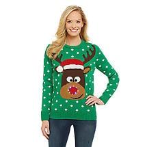 Reindeer Led Light-Up Sweater