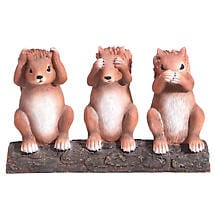 Hear No, See No, Speak No Evil Squirrels