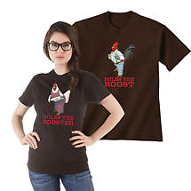 Rules the Roost and Rules the Rooster Set of 2 Mens and Womens T-Shirt Gift Set