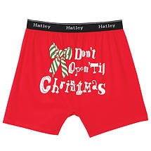 Men's Don't Open Till Christmas Holiday Boxers