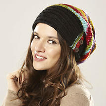 Multi-Colored Button Slouchy Hat