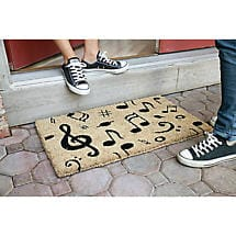 Musical Notes Coir Doormat