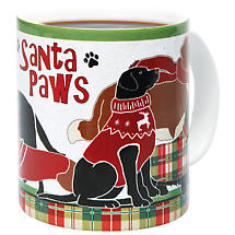 Santa Paws Pets Holiday Mugs