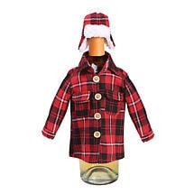 Buffalo Plaid Wine Jacket & Hat