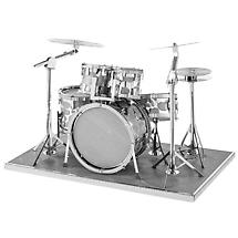Metal Earth 3D Laser Cut Musical Drum Set Instrument Kit
