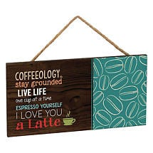 Coffeeology Hanging Sign