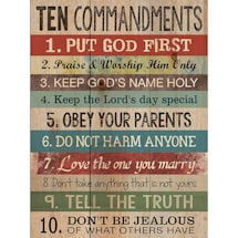 Ten Commandments For Today Wall Plaque