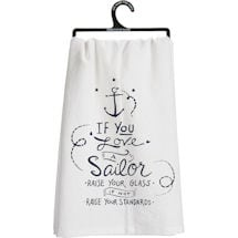 Military Flour Sack Kitchen Towel- Sailor (Navy)