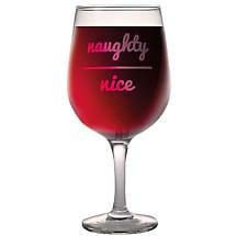 Naughty/Nice Wine Glass