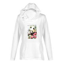 Mommy And Babies Panda Ladies Hoodie
