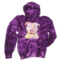 Tie Dye Pit Bull Hooded Sweatshirt