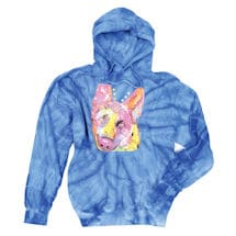 Tie Dye German Shepherd Hooded Sweatshirt