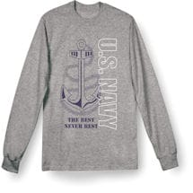 Military Navy Long Sleeve T-Shirt