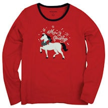 Mare-Y Christmas Women's Loungewear Long Sleeve T-Shirt