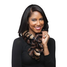 Faux Fur Tiger Infinity Scarf
