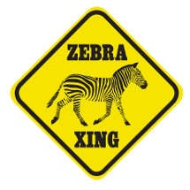 Crossing Zebra Sign