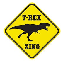 Crossing T-Rex Sign