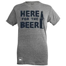 Here For The Beer Bottle Opener T-Shirt