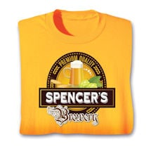 "Personalized Premium Quality ""Your Name"" Brewery Beer Lover Shirt"